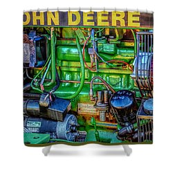 John Deere Engine Shower Curtain