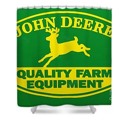 John Deere Farm Equipment Sign Shower Curtain by Randy Steele