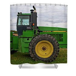 Shower Curtain featuring the photograph John Deere Green 3159 by Guy Whiteley