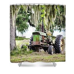 John Deere - Hay Day Shower Curtain by Scott Hansen