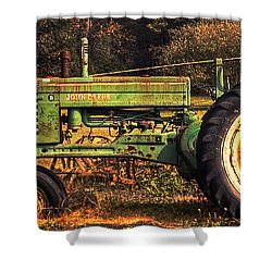 John Deere Retired Shower Curtain