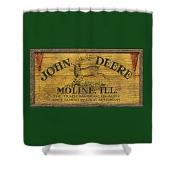John Deere Sign Shower Curtain by WB Johnston