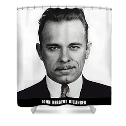 John Dillinger - Bank Robber And Gang Leader Shower Curtain