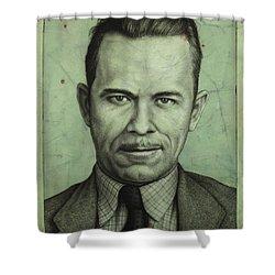 John Dillinger Shower Curtain by James W Johnson