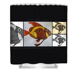 John Dory Collage Shower Curtain