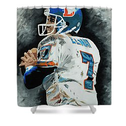 John Elway 1 Shower Curtain