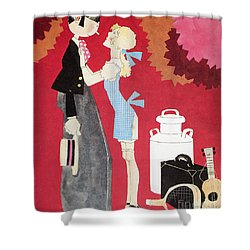 John Held, Jr. Cartoon Shower Curtain by Granger