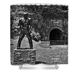 John Henry - Steel Driving Man Shower Curtain