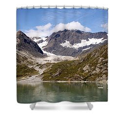 John Hopkins Glacier 5 Shower Curtain by Richard J Cassato