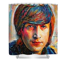 John Lennon Young Portrait Shower Curtain