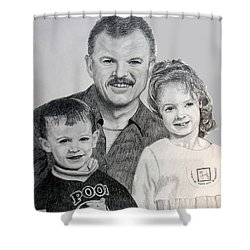 John Megan And Joey Shower Curtain by Stan Hamilton