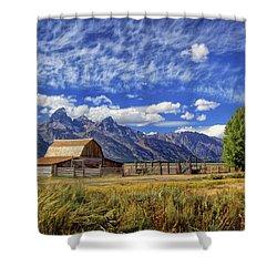John Moulton Barn In The Tetons Shower Curtain