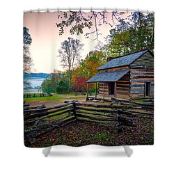 John Oliver Place In Cades Cove Shower Curtain