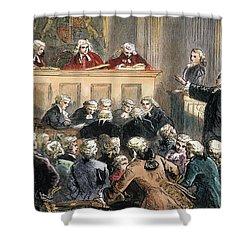 John Peter Zenger Trial Shower Curtain by Granger
