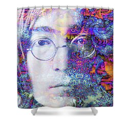 Shower Curtain featuring the digital art John by Robert Orinski