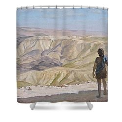 John The Baptist In The Desert Shower Curtain