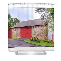 John Updike's Childhood Barn Shower Curtain by R Thomas Berner