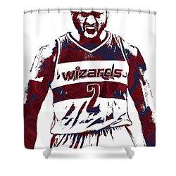 John Wall Washington Wizards Pixel Art 5 Shower Curtain