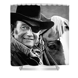 John Wayne @ True Grit #1 Shower Curtain by Gabriel T Toro