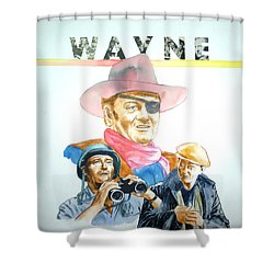 John Wayne Shower Curtain by Bryan Bustard