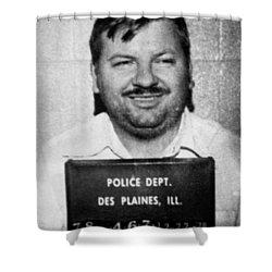 John Wayne Gacy Mug Shot 1980 Black And White Shower Curtain