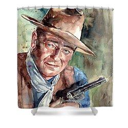 John Wayne Portrait Shower Curtain