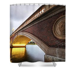 John Weeks Bridge Charles River Harvard Square Cambridge Ma Shower Curtain