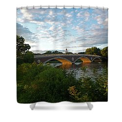 John Weeks Bridge In Harvard Square Cambridge Shower Curtain