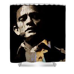 Johnny Cash - I Walk The Line  Shower Curtain
