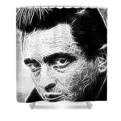 Johnny Cash Shower Curtain by Paul Van Scott