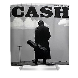 Johnny Cash Shower Curtain by Tom Carlton