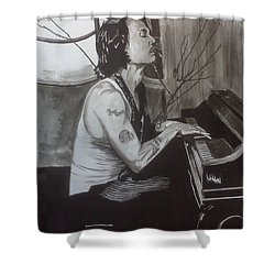 Johnny Depp 1 Shower Curtain by Justin Moore