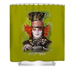 Johnny Depp As Mad Hatter Shower Curtain