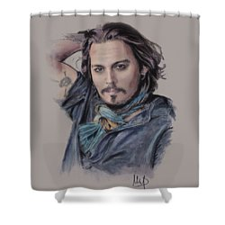 Johnny Depp Shower Curtain by Melanie D