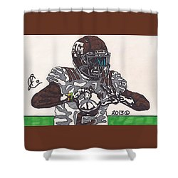 Johnny Manziel 12 Shower Curtain by Jeremiah Colley