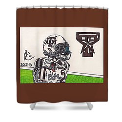 Johnny Manziel 13 Shower Curtain by Jeremiah Colley