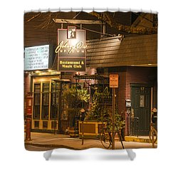 Johnny Ds Music Club In Davis Square Somerville Ma Shower Curtain