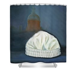 Shower Curtain featuring the painting Johns Hopkins University School Of Nursing by Marlyn Boyd