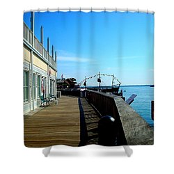John's Pass View Shower Curtain