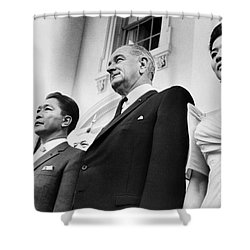 Johnson And Marcos, 1966 Shower Curtain by Granger