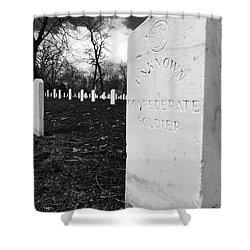 Johnson Island Confederate Stockade Cemetery Shower Curtain