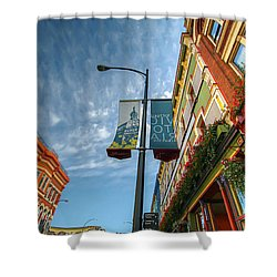 Johnson Street In Victoria B.c. Shower Curtain by David Gn