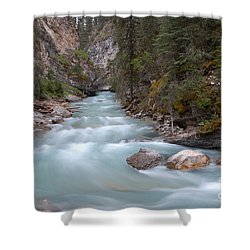 Shower Curtain featuring the photograph Johnston Canyon In Banff National Park by RicardMN Photography