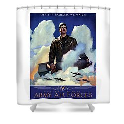 Join The Army Air Forces Shower Curtain by War Is Hell Store