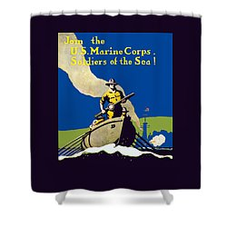 Join The Us Marines Corps Shower Curtain