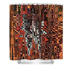 Jojo Abstract Shower Curtain by Tom Janca