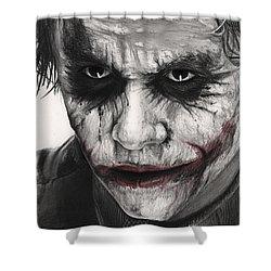 Joker Face Shower Curtain by James Holko