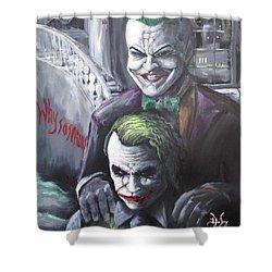 Jokery In Wayne Manor Shower Curtain by Tyler Haddox