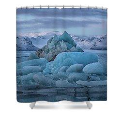 Jokulsarlon Iceland Shower Curtain