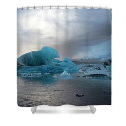 Shower Curtain featuring the photograph Jokulsarlon, The Glacier Lagoon, Iceland 4 by Dubi Roman